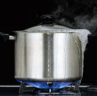 煮こぼれの始まり