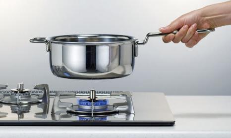 鍋を持ち上げると小火になります