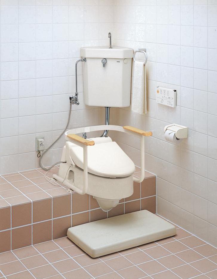 兼用便器を腰掛け温水洗浄便器へ