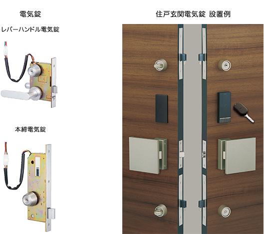 住戸玄関用電気錠