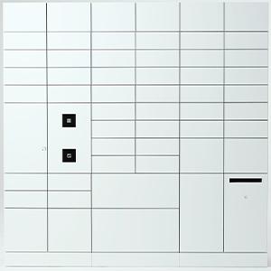 電気式メールボックス一体・前入れ後出し(集中管理型) (受取側)